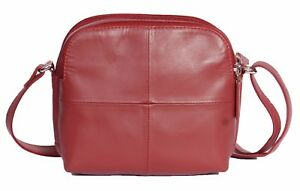 Casual Body Real Zip rojo de Bag Travel Multi Top 5056195873375 Pouch cuero Womens Sling Cross 7fqxTdwT