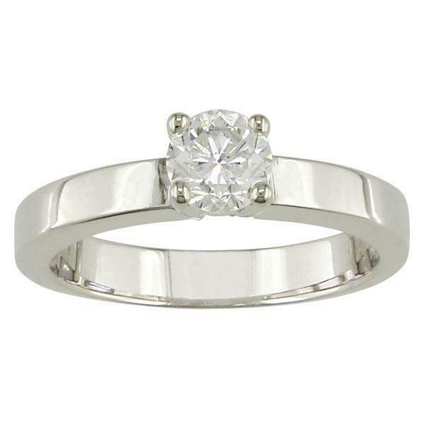Solitaire Engagement Ring 0.35Ct Round Diamond Prong Set 14Kt Solid gold SZ 4-12