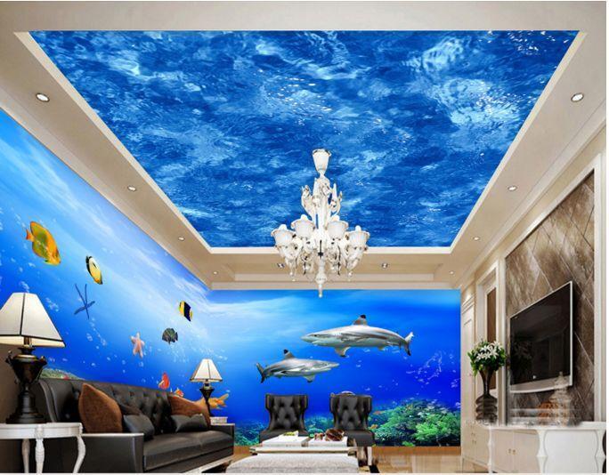 3D Blau Simple 34 Ceiling WallPaper Murals Wall Print Decal Deco AJ WALLPAPER GB