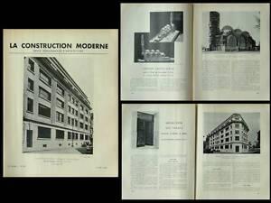 Analytique Construction Moderne 1938 Paris, Eglise Saint Odile, Jacques Barge,51 Quai Orsay AgréAble En ArrièRe-GoûT