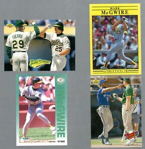 EARLY-039-90-039-S-MLB-PLAYER-MARK-McGWIRE-LOT-OF-4-CARDS-MINT