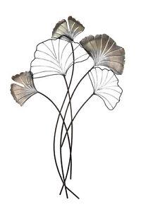2 x   58 cm langer Ginkgo Zweig Gingo Ast Biegsam Blätter Laub Dekozweig Grün