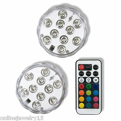 10-LED Multicolor Submarine Tea Light Mini Lamp With 21-Key Multi-function F0