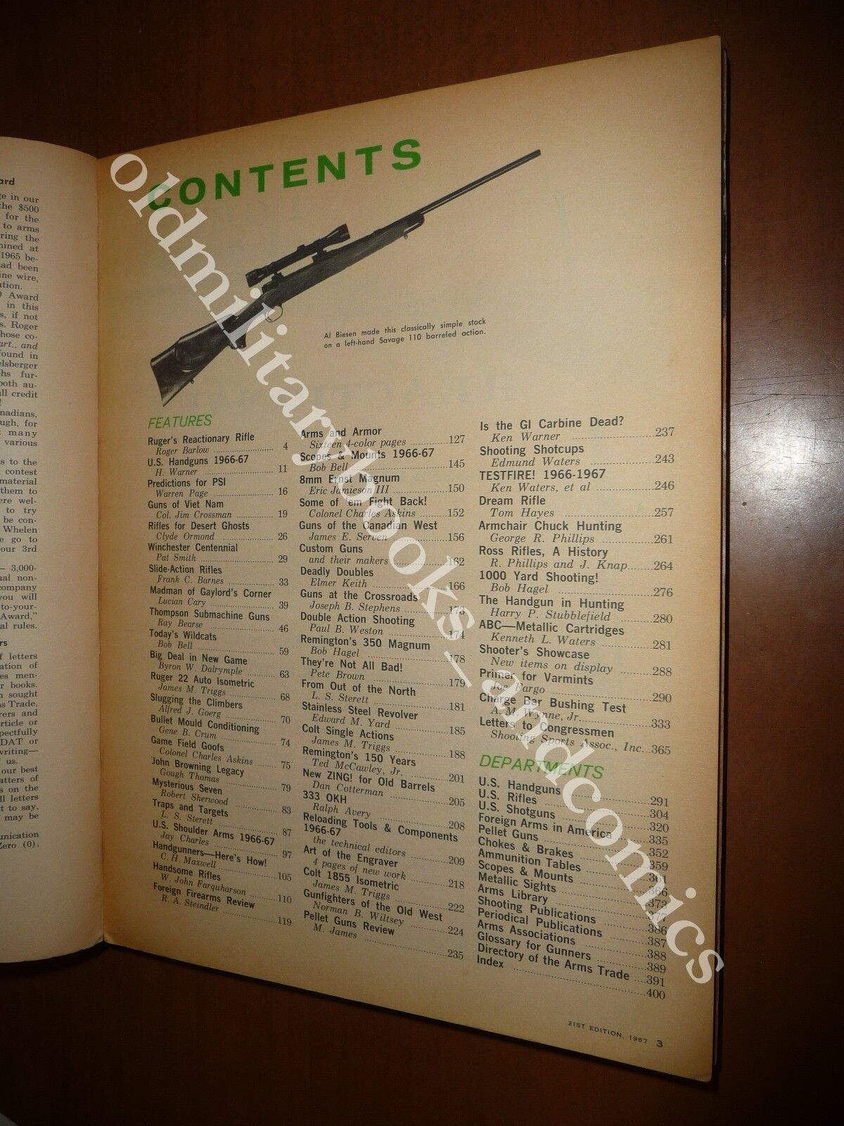 GUN DIGEST 1967 WORLD'S GREATEST GUN BOOK JOHN T. AMBER PISTOLE FUCILI REVOLVER