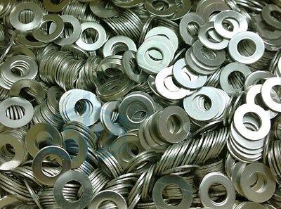 10pcs Stainless Steel M3-M10 Metal Flat Washers Fit Bolts Screws Repair Kit Tool