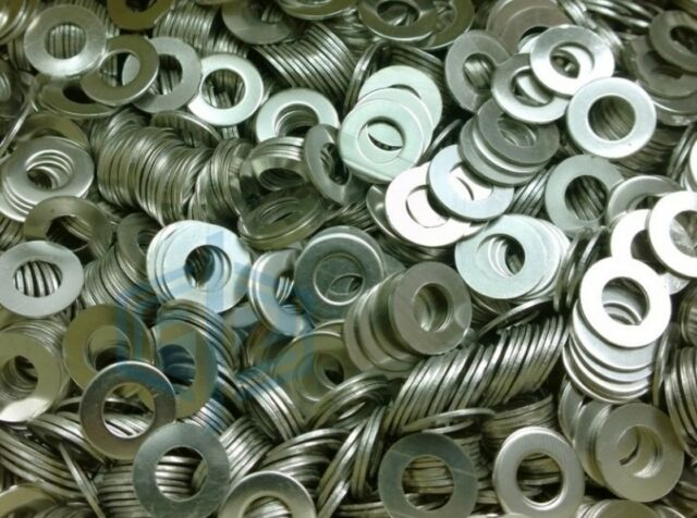 Stainless Steel Metal Flat Washers M3 M4 M5 M10 Fit Bolts Screws Repair Kit Tool