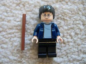 LEGO-Harry-Potter-Rare-Harry-Potter-Minifig-w-Wand-From-4840