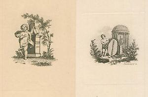 2 Ex Libris Antique Exlibris By Unknown