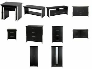 Image Is Loading Gosport Black Ash Bedroom Furniture Chests Of Drawers