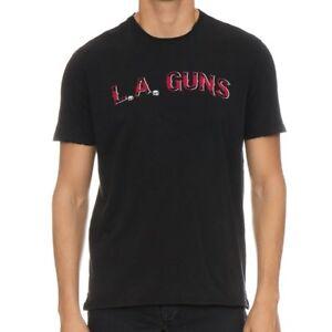 John-Varvatos-Men-039-s-L-A-Guns-Rock-Icon-Raw-Edge-Graphic-Crew-T-Shirt-Black