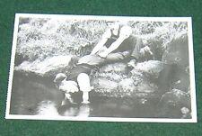 NOSTALGIA INK POSTCARD TICKLING TROUT (1910).
