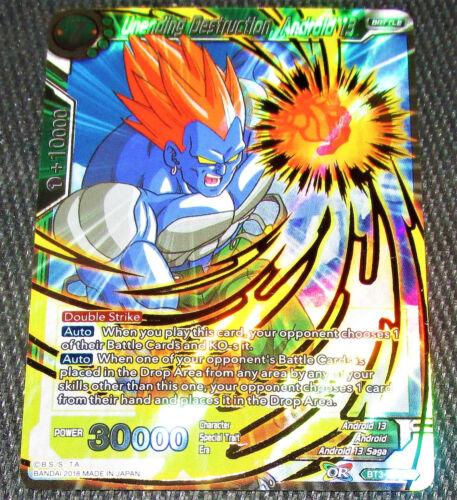 Unending Destruction Android 13 BT3-069 SR Dragon Ball Super TCG NEAR MINT