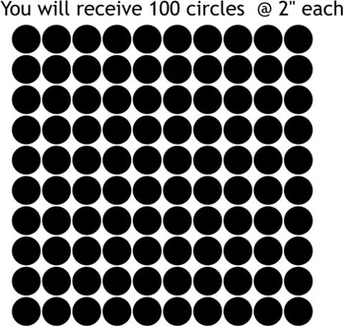 """Lot of 100 2/"""" Circle Dots Vinyl Wall Decal Stickers Matte Finish Choose Color"""
