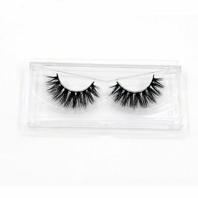 Pro 1 Pair 100% Handmade Thick Real 3D Strip Mink Fur Long False Eyelash Makeup