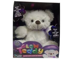 Super Soft Cuddly Glow Teddy Bear Light up Colour Changing Night Light NEW 2018