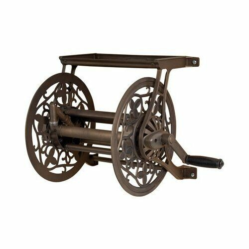 Corrosion Resistant Decorative Wall Mount Hose Reel for Outdoor   Garden Use
