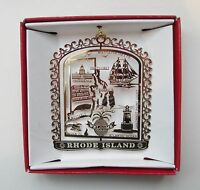 Rhode Island Brass Ornament Travel Souvenir Gift Newport Providence Pawtucket
