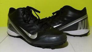 57ad115bf Nike Land Shark 3 4 Black Silver Tornado Football Cleat 511292-009 ...