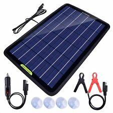 Eco Worthy 12 Volt 10 Watt Solar Panel Car Battery Charger Amp Maintainer Trickle