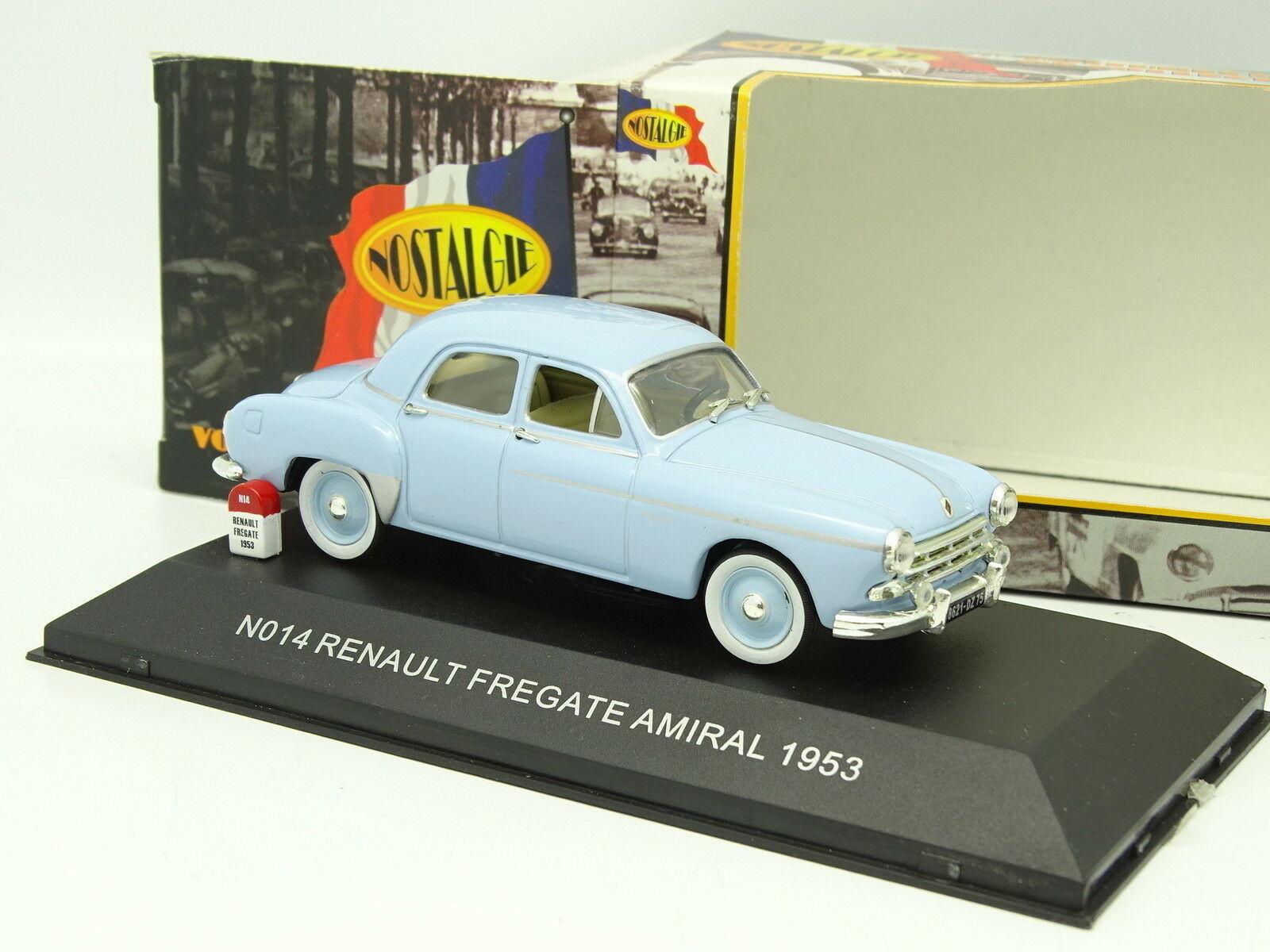 Nostalgie 1 43 - Renault Fragata Almirante 1953 Azul Azul Azul ee7097