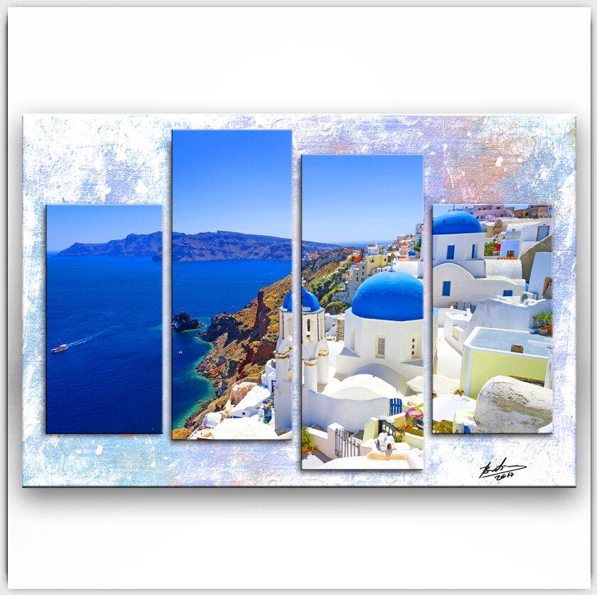 Bilder auf Leinwand Landschaft Santorini Griechenland Wandbild Kunst  1493A 1493A 1493A 80934d