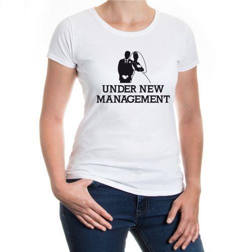 Damen Girlie T-Shirt Under new Management Junggesellenabschied JGA Hochzeit