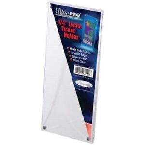Ultra-Pro-1-4-034-Lucite-Ticket-Holder-Acrylic-Display-Slab-Beveled-Edges