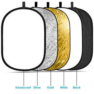 Neewer 60x90cm 5 en 1 Kit oval reflector plegable