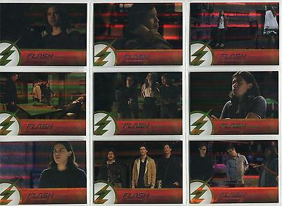 The Flash Season 2 Complete Foil Parallel Quotable Cisco Chase Card Set Q1-9