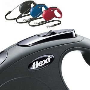 Flexi-Dog-Lead-Cord-Tape-Classic-Style-Retractable-Dog-Lead-5m-Large-Small-Med