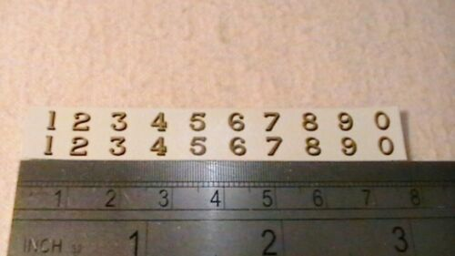 TRIANG HORNBY LIMA ECT LMS LETTERS X2 /& NUM X4 DECAL METALLIC GOLD BLACK SHADEIN