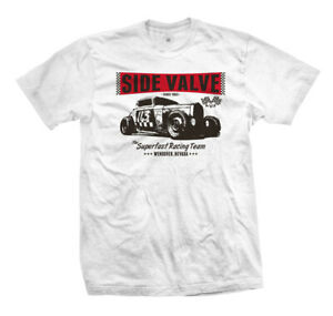 T-Shirt-Side-Valve-113-Rockabilly-Kustom-Car-Hot-Rat-Rod-Vintage-Flathead-V8