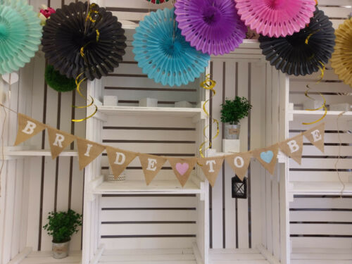 BRIDE TO BE Hen Party Bunting Banner Rustic garland engagement  I do Hen decor