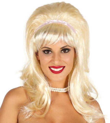 Damen Blond Bob Bienenkorb 60s Sechziger 1960s Kostüm Kleid Outfit Perücke