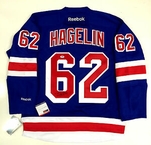 check out b03a3 38a37 Details about CARL HAGELIN SIGNED NEW YORK RANGERS HOME REEBOK JERSEY  PSA/DNA COA W45849