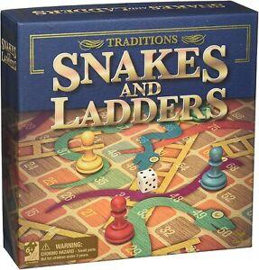 Tradiciones-Serpientes-Y-Escaleras-Juego-de-Tablero-de-Diversion-Familia-Clasico-Nuevo-US-Seller