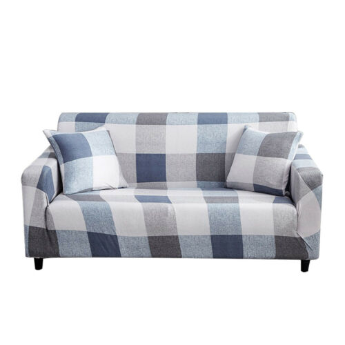 1//2//3//4 Seat Sofa Geometric Slipcover Stretch Protector Couch Furniture Covers