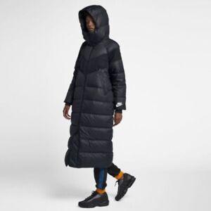 Details zu Nike Down Fill Parka Long Jacket Womens Dark Navy Blue AH8694 475 Puffer Rare