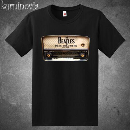 The Beatles On Air Rock Band Legend Album Men/'s Black T-Shirt Size S to 3XL