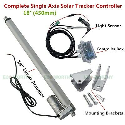 1KW Sunlight Solar Tracking System Single Axis Complete Kit 18'' Linear Actutor