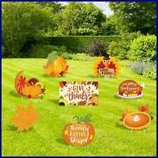 Huray Rayho Thanksgiving Yard Signs W Stakes Turkey Decorations Outdoor Lawn Dec