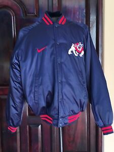 VTG Fresno State Bulldogs Nike Baseball Dugout Satin Insulated ...