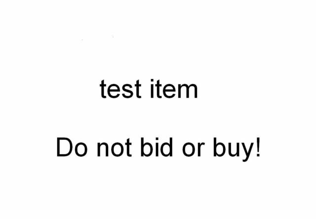 Test listing - DO NOT BID OR BUY232883941812