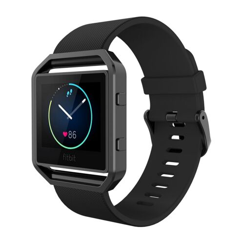 Bands with Frame for Fitbit Blaze Simpeak Silicone Replacement Band Strap,US