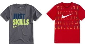 363a268d4303 Nike Little Boys Dri fit Graphic Print Tee Shirt Toddlers Red Gray ...
