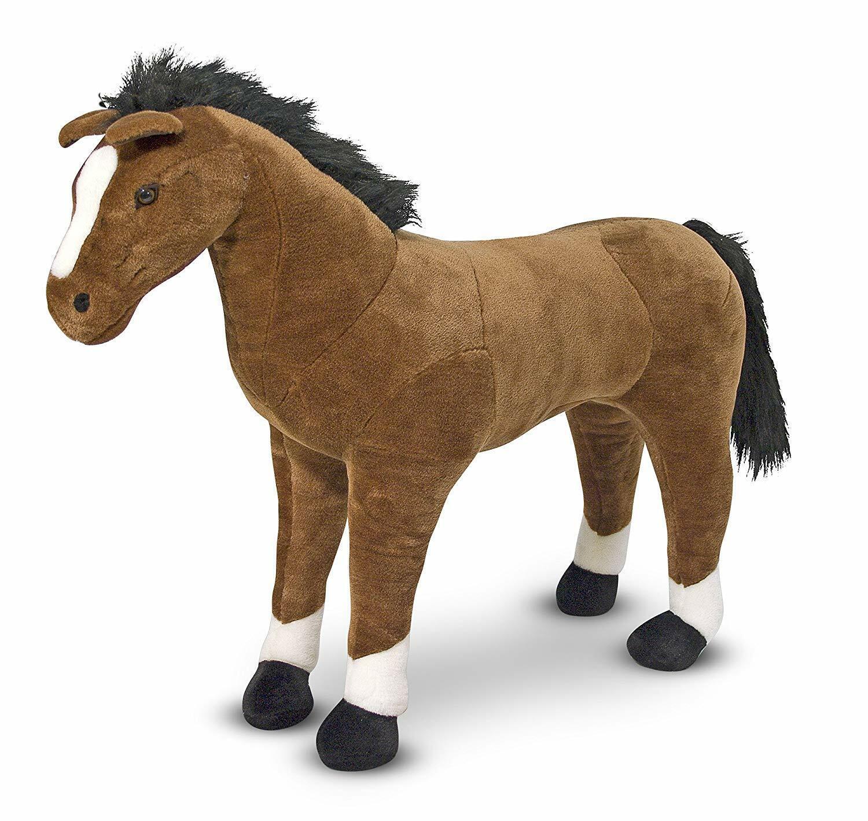 Giant Brown Horse Plush Soft Toy Melissa & Doug Gift
