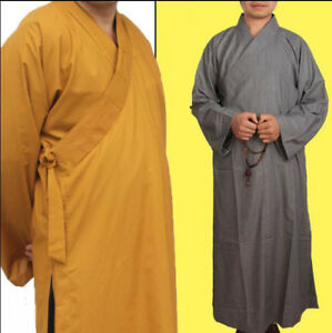 6361f8b197 Image is loading Shaolin-Monk-Clothes-Zen-Lay-Buddhists-Meditation-Uniform-