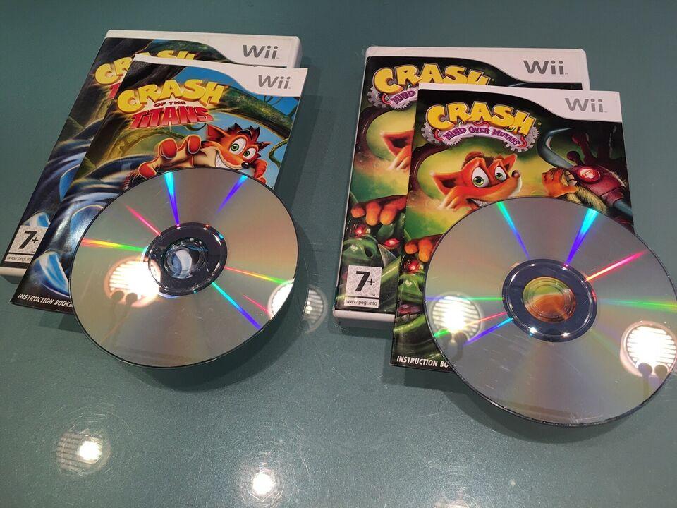 CRASH - Of the Titans / Mind over Mutant, Nintendo Wii,