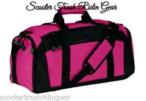 7247e9a9705c Details about Personalized Duffle Bag Gym Sport Duffel Hot Pink with black  trim NEW monogram