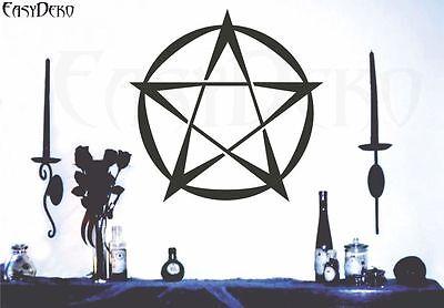Pentagramm Wandtattoo Spiritualität Heidnisch Hexe Pagan Pentakel Schutzkreis